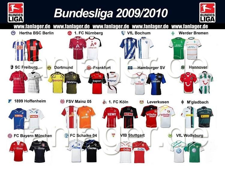 Die neuen trikots f r die bundesliga saison 2009 10 for Bundesliga trikots